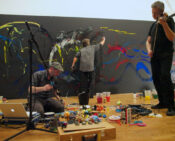 Performance Painting at Modern Art Oxford, 2011