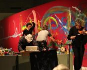 Performance Painting at Queen Elizabeth Hall, South Bank Centre