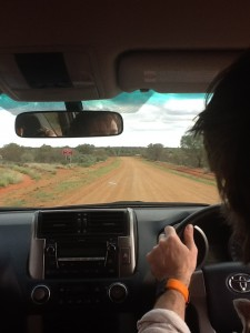 Driving through the Outback