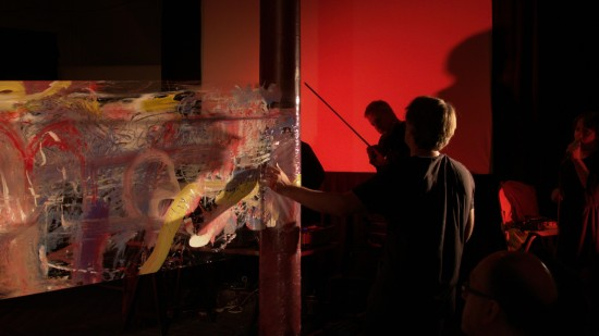 Performance Painting, Centre for Visual Music Salon Performance